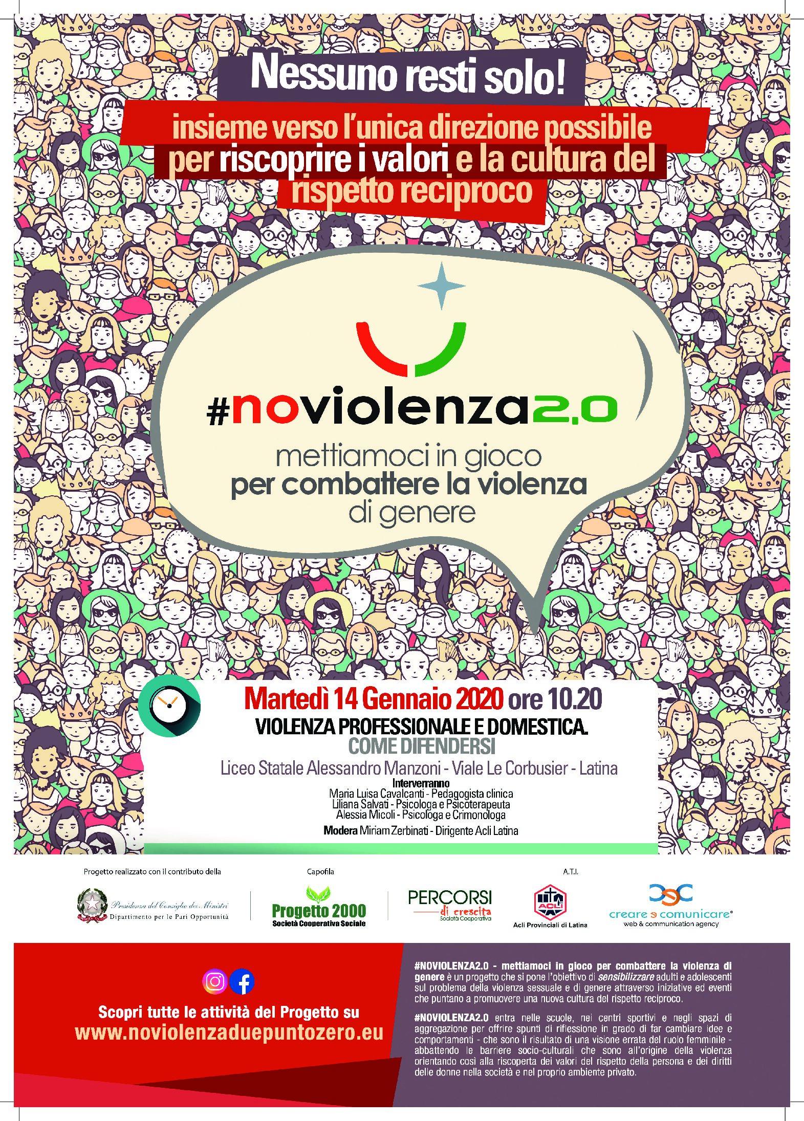 #NoViolenza2.0 – Violenza professionale e domestica : Come difendersi
