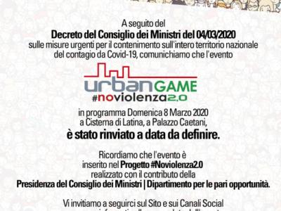 Rinvio URBAN GAME #NOVIOLENZA2.0