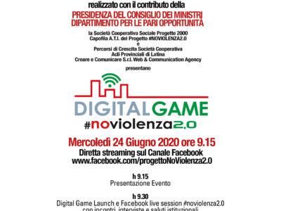 #NoViolenza2.0: la violenza di genere  si combatte con un Digital Game hi-tech