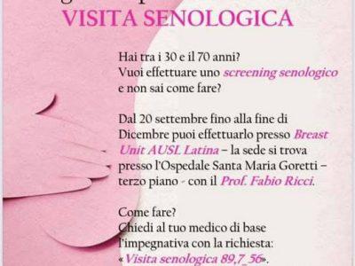 Ottobre rosa VI Edizione Consulta delle Donne Cisterna di Latina